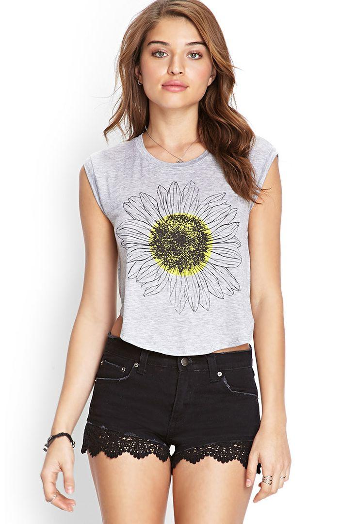 Heathered Sunflower Tee | FOREVER21 #SummerForever