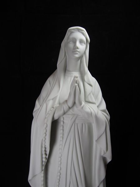 Our lady lourdes Cast marble statues Carved Religious sacred art statues religious mary statue grace indoor SCULPTURES RELIGIOUS STATUARY ART