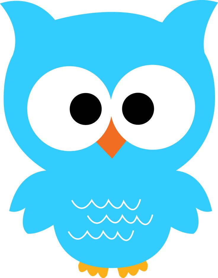 Images For > Cute Colorful Blue Owl