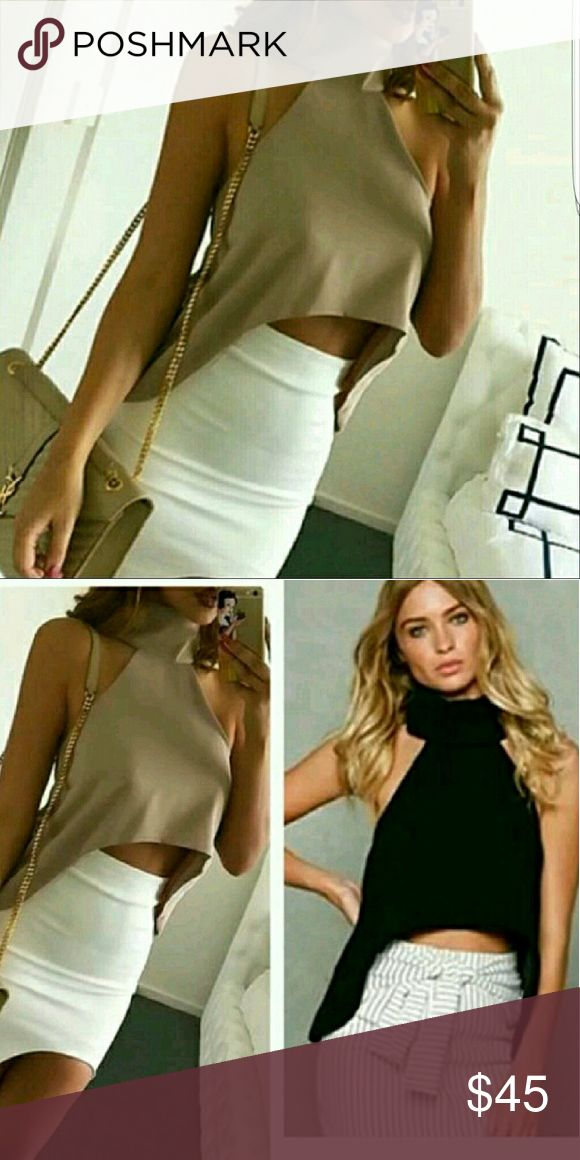 BROWN crop top size - Medium Condition - NEW Without tags Tops