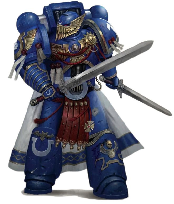 The Ultramarines Honour Guard is a highly elite group of Marines unique to the Ultramarines Space Marine Chapter. In battle they act either as a group or as squad leaders.