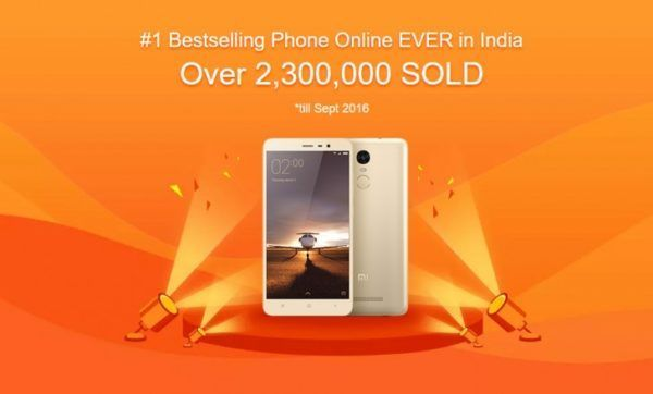 REDMI NOTE 3 BECOMES THE BESTSELLING ONLINE PHONE EVER IN INDIA
