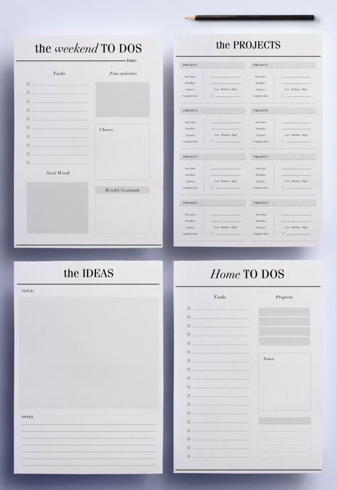 Im so happy to present my ultimate productivity planner pack; the perfect pages for the To Do and Work section of your planner that will help