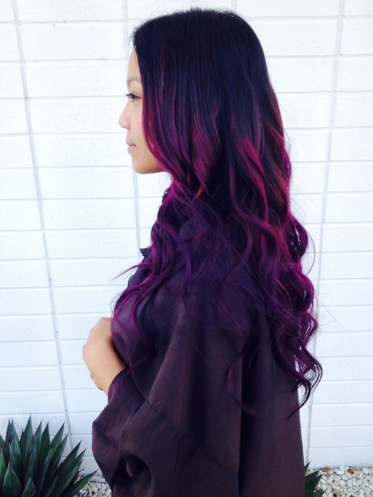 My New Do Asian Purple Ombre Hair Ombre Hair Balayage