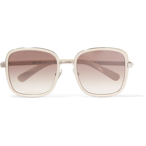 848caa0d9e8 Jimmy Choo Elva square-frame acetate and glittered suede sunglasses  featuring polyvore