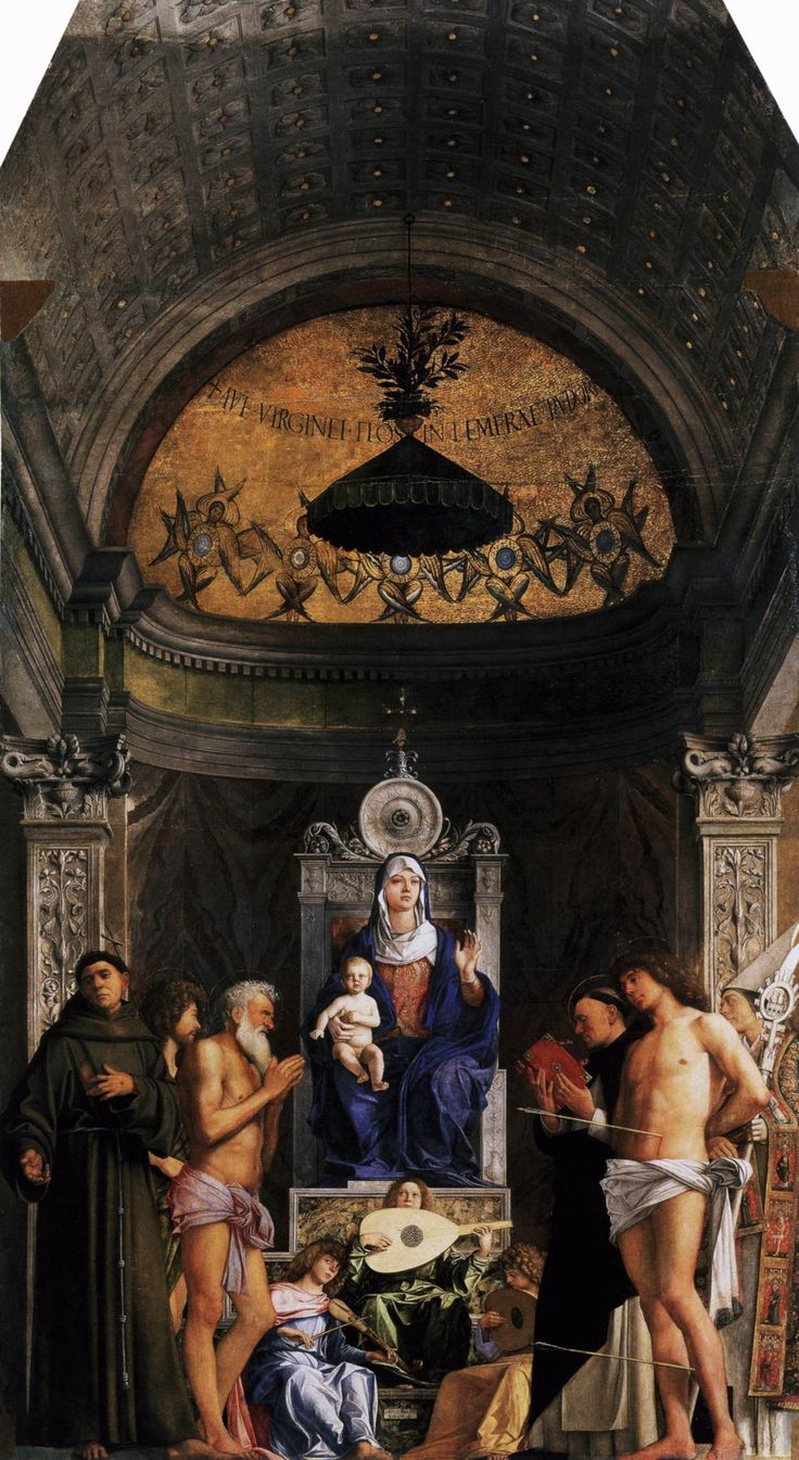San Giobbe Altarpiece, Giovanni Bellini, oil on panel before 1478. Now in the Academia in Venice.