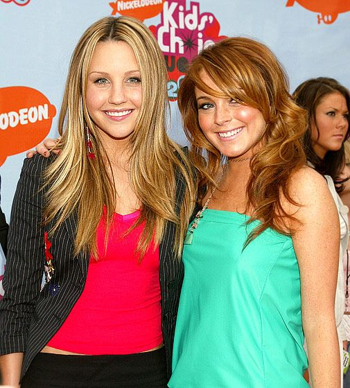 """Bynes -- who's won six Nickeloden Kids' Choice Awards -- posed with Lindsay Lohan in April 2004. Years later, the redheaded star would criticize Bynes for not receiving a harsher punishment after being arrested for similar automobile-related offences. """"Why did I get put in jail and a Nickelodeon star has had no punishments so far?"""" Lohan asked via Twitter."""