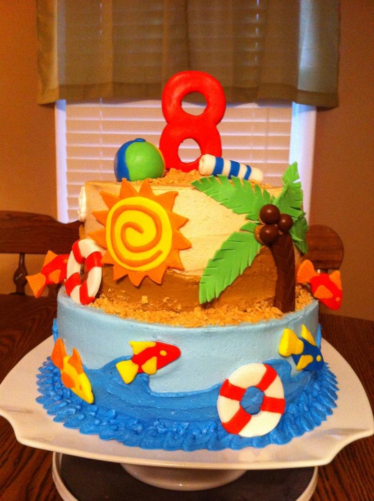 1000+ images about Teen beach movie cake ideas on ... |Beach Themed Birthday Cakes