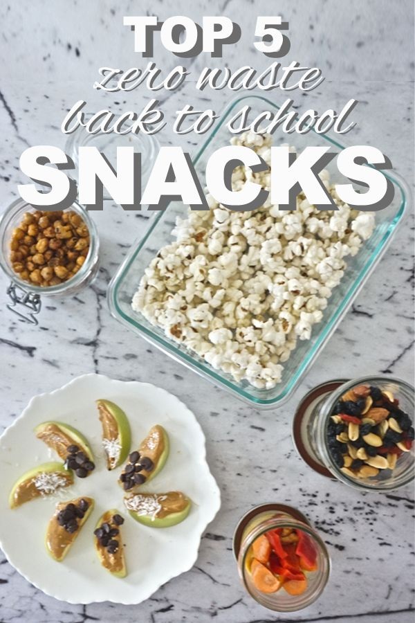 My top 5 favorite, zero waste back to school snacks from www.goingzerowaste.com
