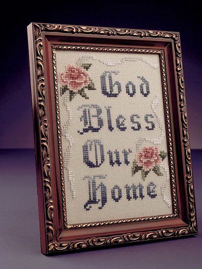 What's New - Cross-Stitch - God Bless Our Home