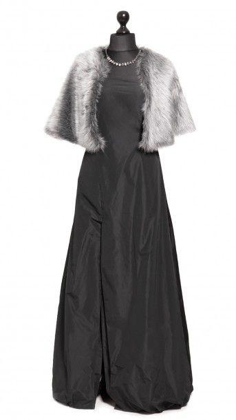 DRESSEOS Capa de piel sintética gris - Faux fur gray jacket - Dresseos