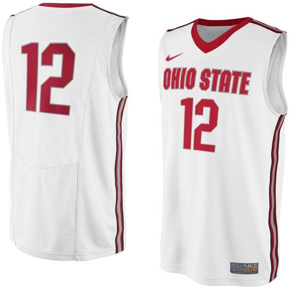 Ohio State Buckeyes Nike No. 12 Replica Master Jersey - White