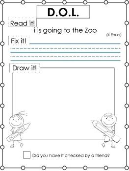 Printables Dol Worksheets 1000 images about capital letterpunctuation worksheets on dol for grades 1 3 this helped with my students basic writing components