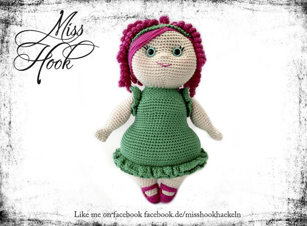 Crochet doll pattern Miss Rubi // Miss Hook  Like me in Facebook... http://facebook.de/misshookhaekeln  Häkelanleitung Puppe eBook