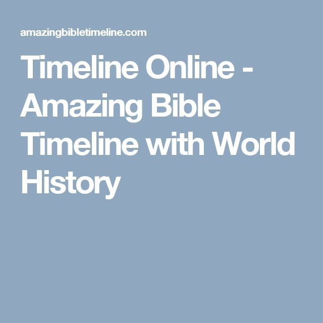 Timeline Online - Amazing Bible Timeline with World History