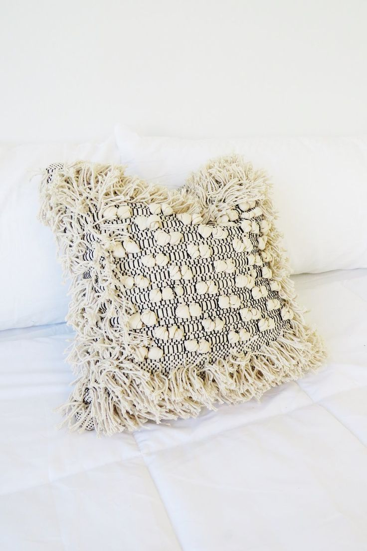 Embroidered Textured Pillow | ROOLEE