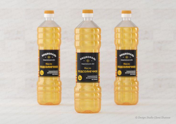 Дизайн этикетки для растительного масла