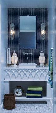 Moroccan Lounge - eclectic - bathroom -Lucy Interior Design  - love the vanity #theluxegen