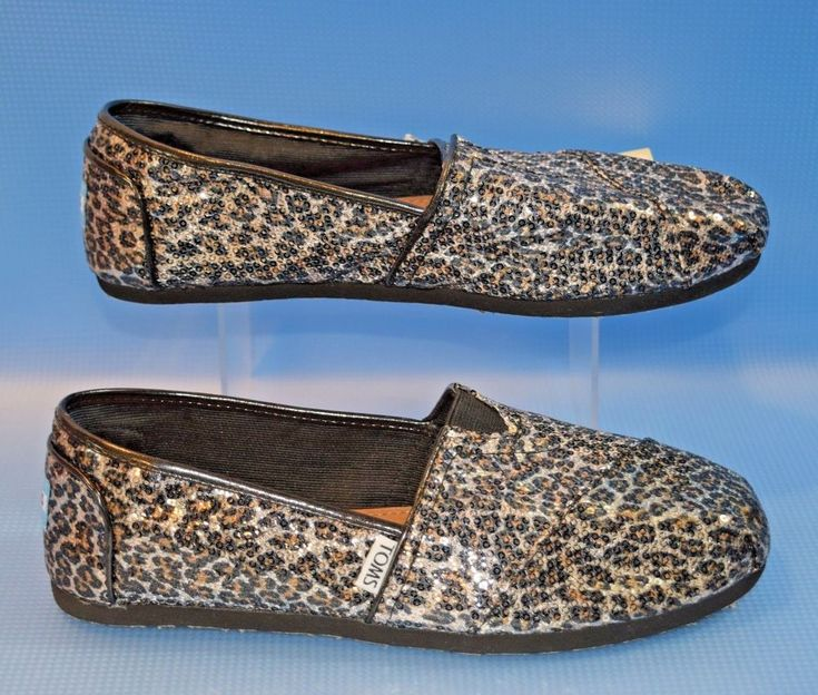 Toms Classic Womens Panthera Sequins 10 Leopard Animal Print RARE Sold Out!  #TOMS #BalletFlats