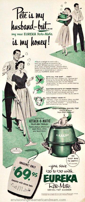 Vintage ad Eureka 1953