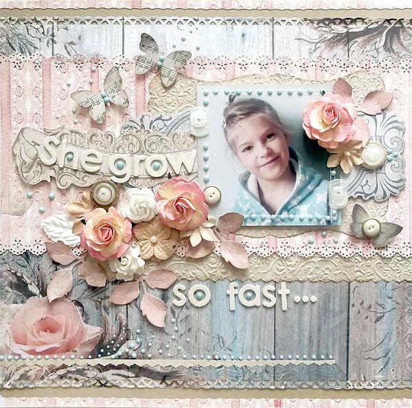 {She grow so fast} * Swirlydoos May Kit* - Scrapbook.com (created by Karola Witczak) Wendy Schultz onto Scrapbook Art.