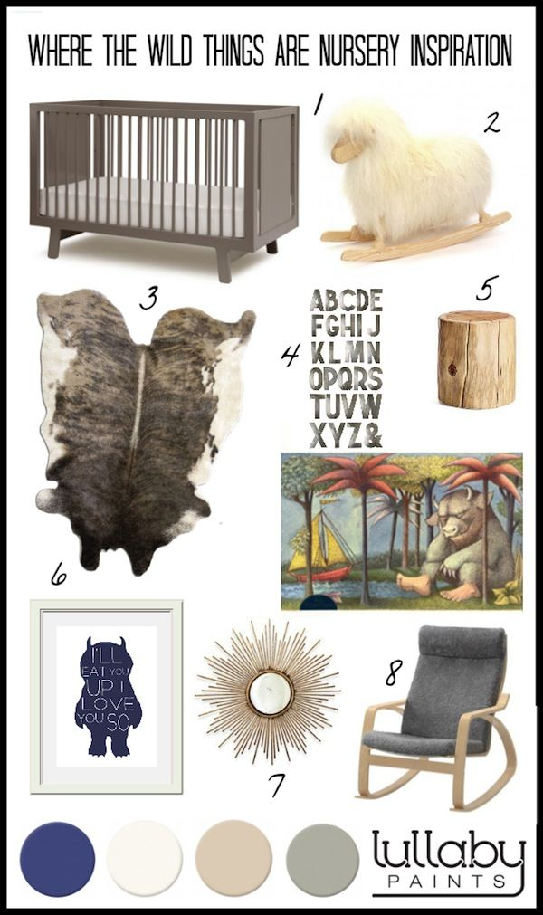 Let the wild rumpus begin! This Where the Wild Things Are inspired nursery is sure to let your little one's imagination run wild!  https://lullabypaints.com/blog/article/storybook-nursery-inspiration-where-the-wild-things-are/
