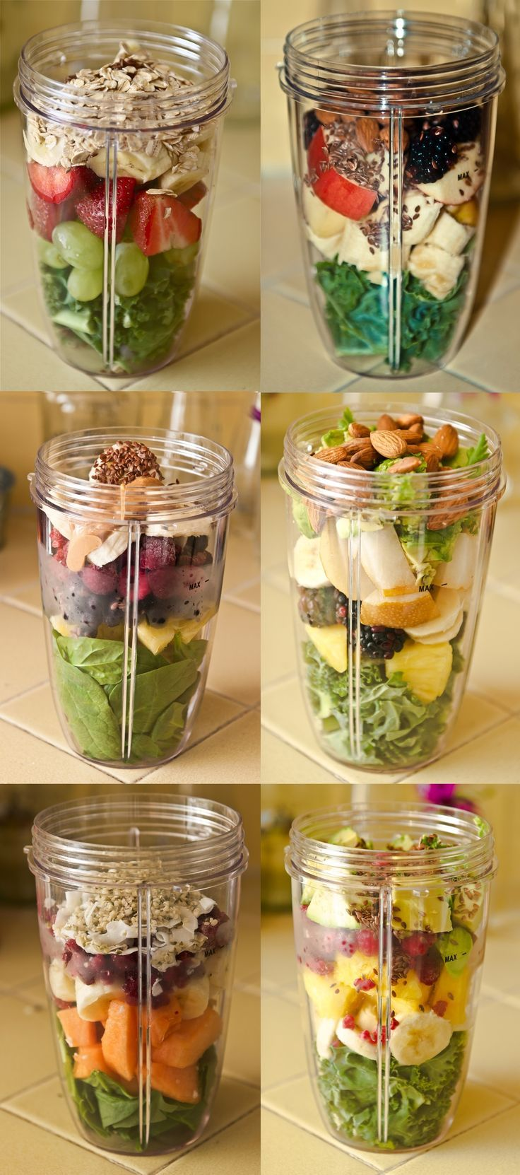 Great recipes for smoothies- hopefully I can use my magic bullet since I don't…