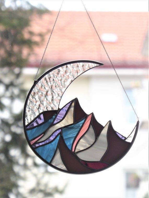 Window hangings Cactus stained glass suncatcher Birthday gifr for father Stained glass decor