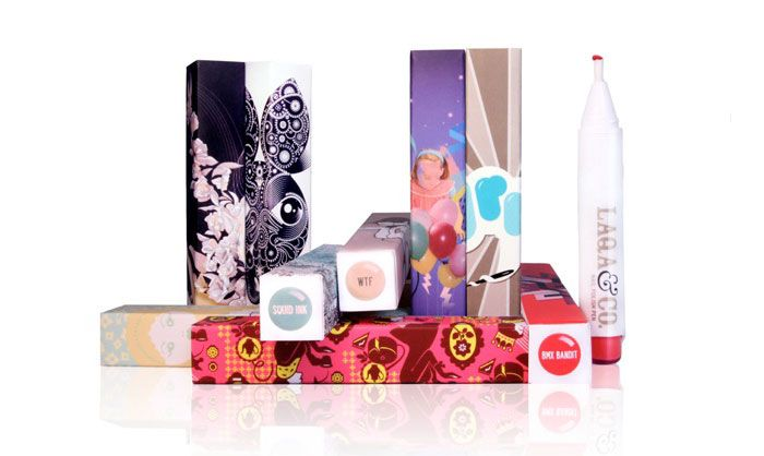 Artist Collaborations Laqa via dieline.comNails Art, Nails Pens, Packaging Design, Bright Nails Polish, Polish Pens, Lips Pencil, Beautiful Packaging, Free Nails, Laqa