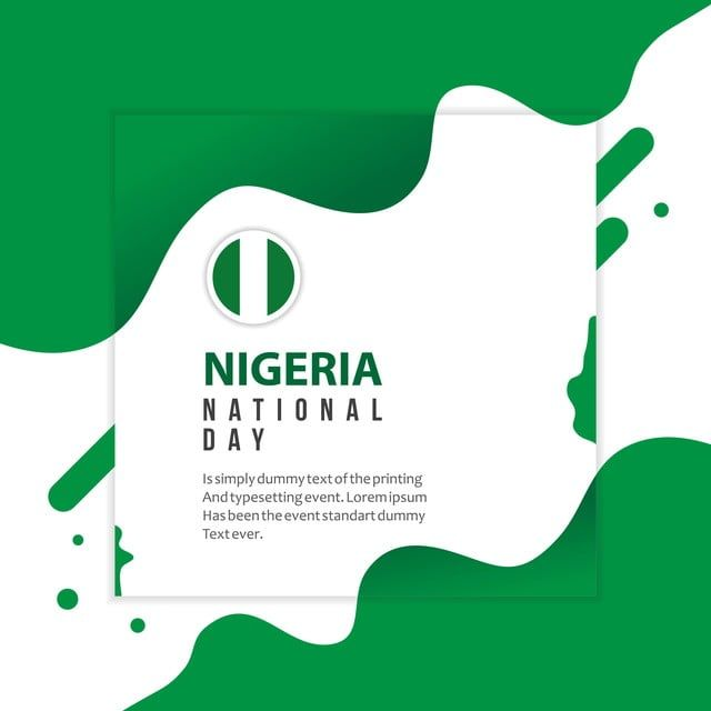 Nigeria National Day Vector Template Design Illustration Template Icons Day Icons Nigeria Png And Vector With Transparent Background For Free Download Illustration Design Template Design National Day