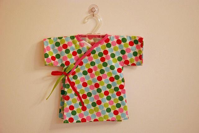 newborn kimono top - with link to pattern