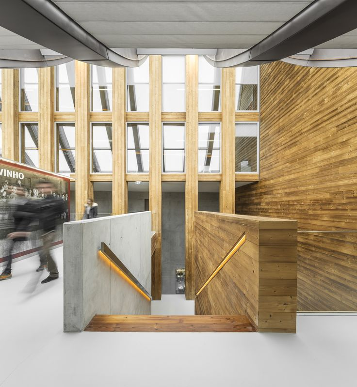 wood and concrete Wine Museum by Atelier405 Www.405.pt