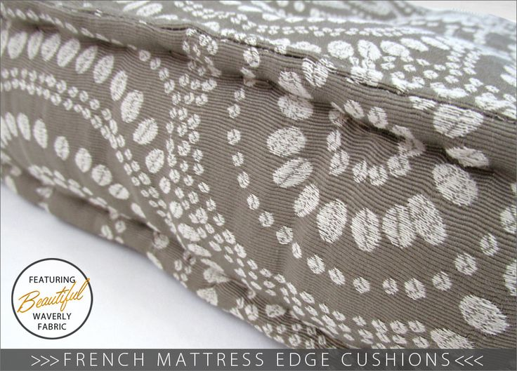 French Mattress Edge Floor Cushions - learn how to make this stabilizing classic edge: Waverly World   Sew4Home