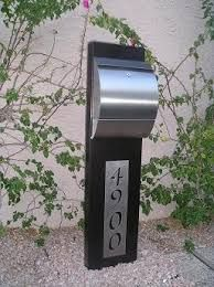 Image result for contemporary residential mailboxes