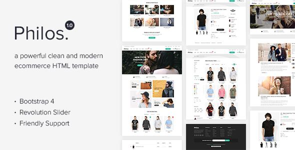 Philos - Responsive Ecommerce Html Template http://themeforu.com #webdesign #website #design #responsive #besttemplates #template #SiteTemplates #Retail #Fashion