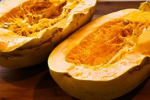 ... ®: Recipe for Twice-Baked Spaghetti Squash with Pesto and Parmesan