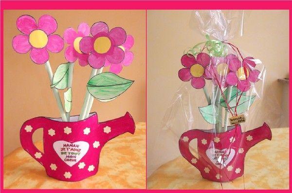 Vase arrosoir fête des mères