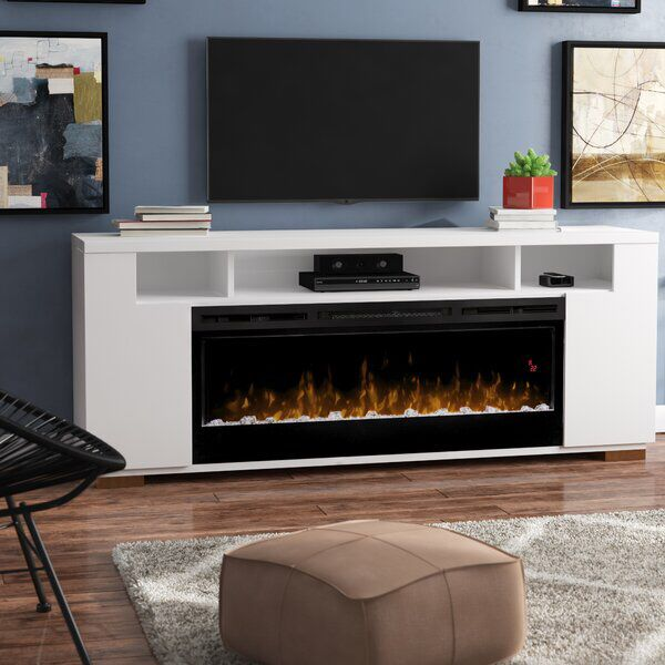 Barnett Tv Stand For Tvs Up To 75 Inches With Fireplace Included Fireplace Tv Stand Wall Mount Electric Fireplace Fireplace Tv