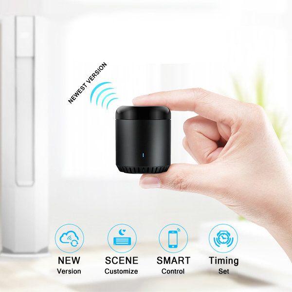 NEW Upgrade Version Broadlink RM Mini 3 Black Bean Smart Home Wifi Universal IR Smart Remote Controller at Banggood