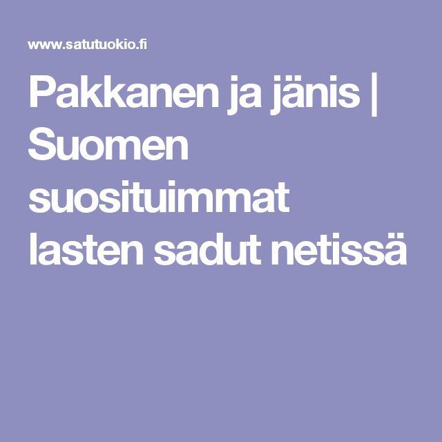 Pakkanen ja jänis | Suomen suosituimmat lasten sadut netissä