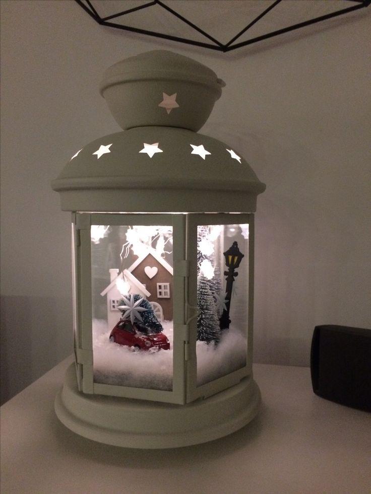 Lanterna paesaggio invernale