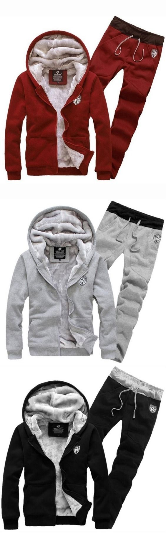 Men's Sports Casual Daily Hoodie Solid Hooded Micro elastic Cotton Long Sleeves Suit