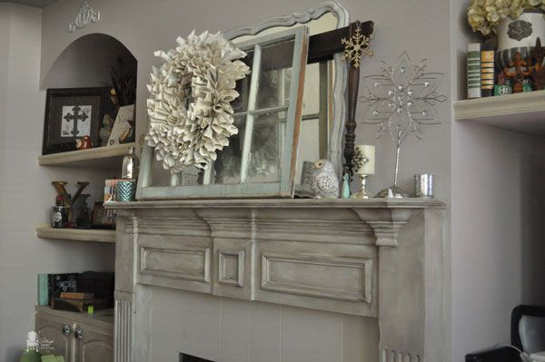 Chalk Painted Fireplace Mantel - Giving your fireplace mantel a new look with paint!! Oh the power of paint!! I love that it's really that easy- I think picking…