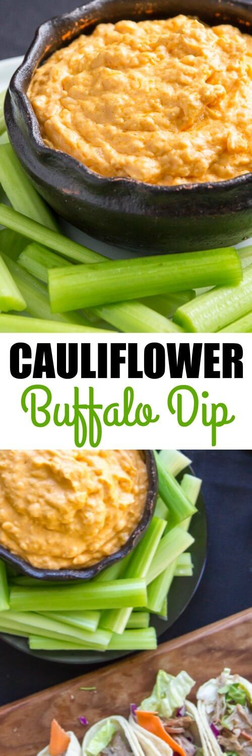 Cauliflower Buffalo Dip is hot, cheesy, and ready in minutes with the help of Cauliflower Pearls! A delicious vegetarian twist on classic Buffalo Wing Dip.