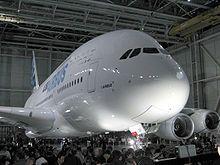 El a380, actualmente el avión más grande del mundo.