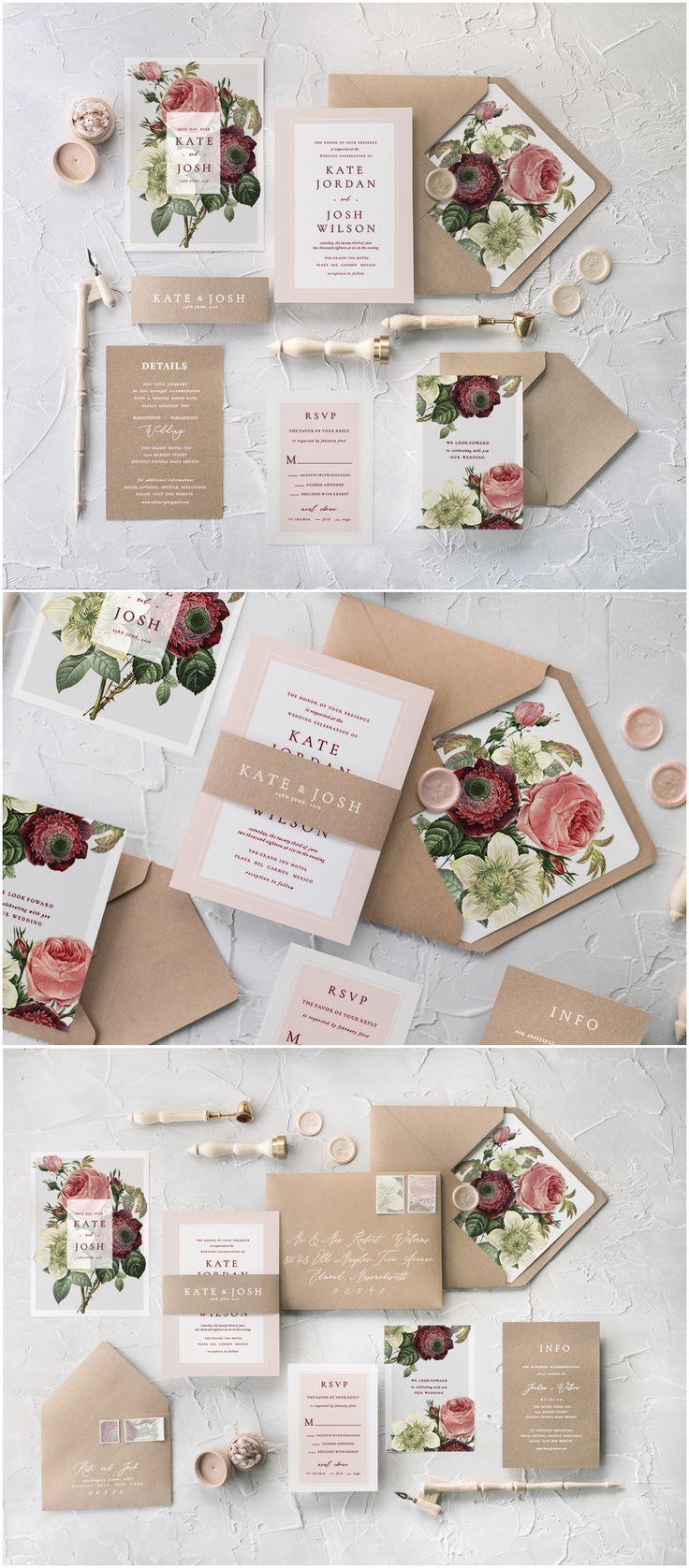 vintage country garden wedding invitations%0A Vintage White Roses Calligraphy Wedding Invitations  weddings  invitations   weddingcards