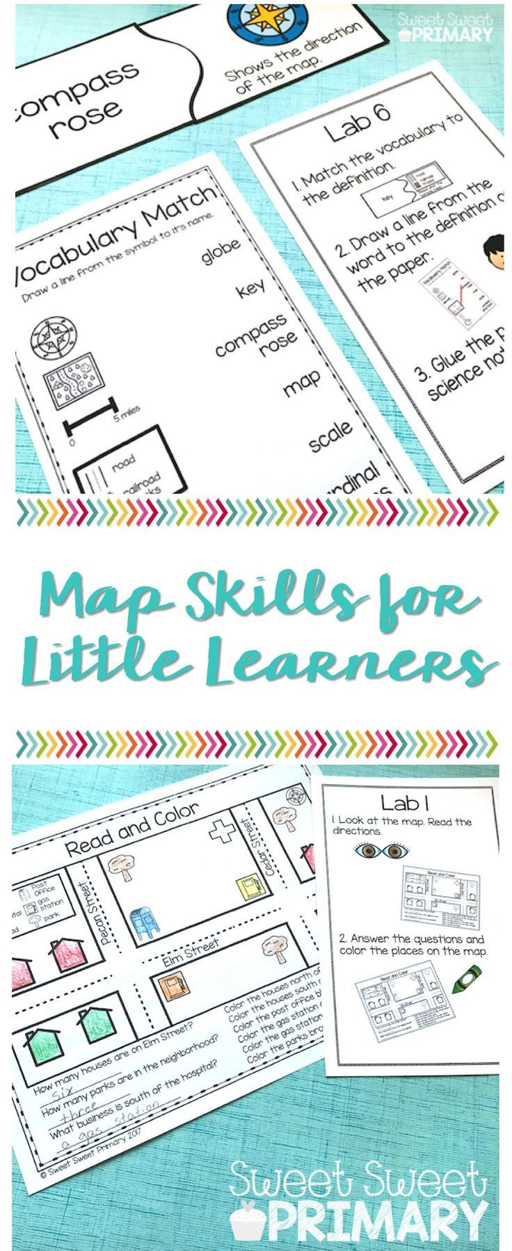 First Grade Map Skills Worksheets In 2020 Map Skills Map Skills Worksheets Teaching Map Skills