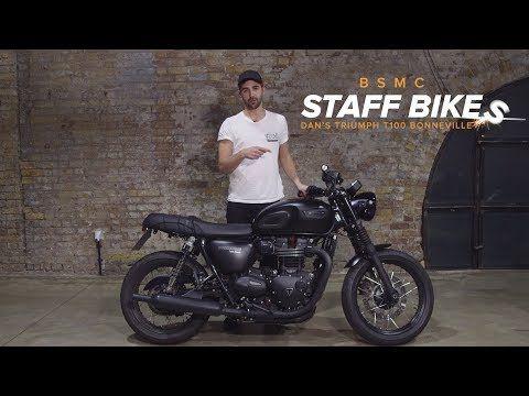 Staff Bikes Dans Triumph T100 Bonneville Youtube Moto