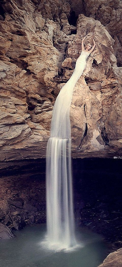 Waterfall creative design pinterest goddesses for Waterfall design dress