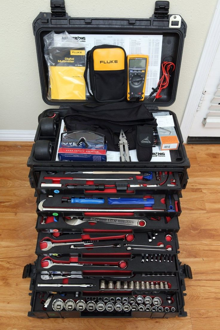 Armstrong GMTK Military Master General Mechanic Tool Kit Set Pelican 0450 Case